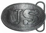 US Civil War Belt Buckle with display stand. Code MA6